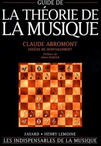 1ère de couverture du Guide de la Théorie de la Musique