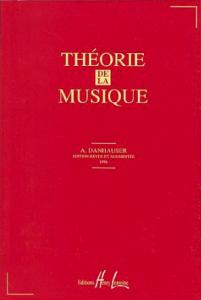 1ère de couvertue de la Théorie de la musique de Adolphe Danhauser